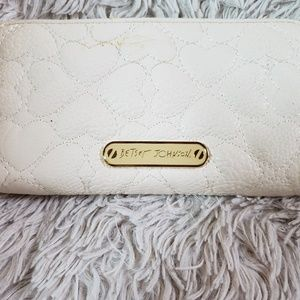 Betsey Johnson Wallet White Quilted